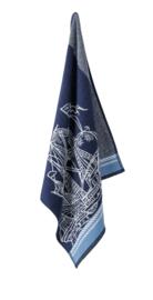 Keukendoek (handdoek) Elias Caravel blauw