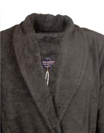 Heren badjas Paul Hopkins badstof met sjaalkraag antraciet M t/m XXL