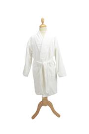 Kinderbadjas badstof A&R kleur wit maat 116  t/m 164