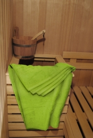 A&R saunalaken 100x210 cm  limegroen badstof