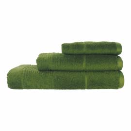 Elias  handdoek Deep 50x100 cm Egyptisch katoen 600gr/m² kleur olive green set van 2 stuks