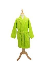 Kinderbadjas badstof A&R kleur lime maat 116 t/m 164
