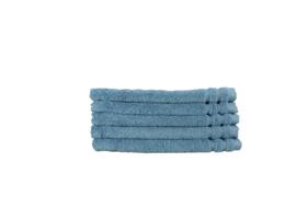 A&R gastendoekjes (extra groot) organic katoen 40x60 cm kleur blauw set van 5 stuks
