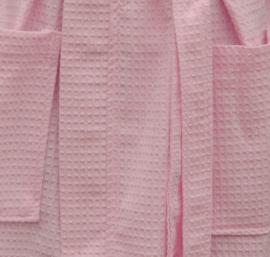 Wafelbadjas A&R met capuchon 100% katoen light pink XXS t/m XXXXL