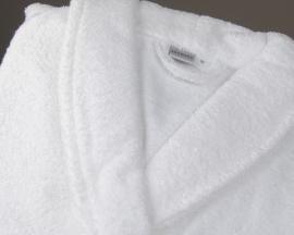 Badstof badjas Vent du Sud wit 100% gekamd katoen badstof