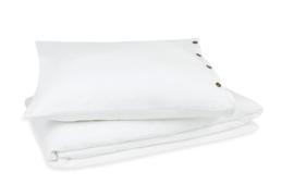 Kayori dekbedovertrek bovenkant luxe linnen onderkant katoenen percal kleur wit