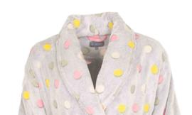 Badjas dames Irresistible coral fleece Grey melange