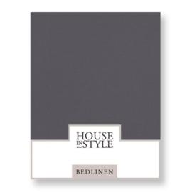 House in Style hoeslaken Bilbao katoen percal kleur Grey blue