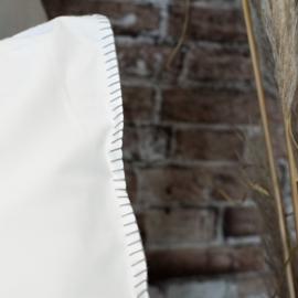 Town & Country dekbedovertrek Clay kleur White met grey