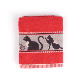 Keukendoek (handdoek) Bunzlau Castle rood  kat