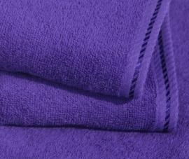 A&R strandlaken badstof 100x210 cm paars badstof