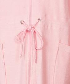 Tenderness badjas met rits kleur rosa S t/m XXL