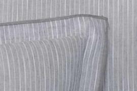 Dekbedovertrek Flamant Pinstripe grey bovenkant linnen onderkant percal katoen