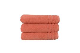 A&R handdoek organic 60x110 cm kleur coral set van 2 stuks