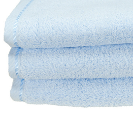Handdoek A&R 50x100 cm lichtblauw set 3 stuks