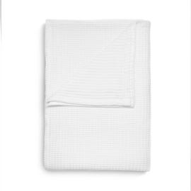 Heckett & Lane wafel plaid Cuban kleur wit 180x260 cm of 240x260 cm