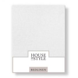 House in Style hoeslaken Bilbao katoen percal kleur wit
