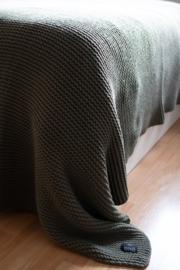 Plaid House in Style Devon black 130x240 cm 80% wol 20% polyester