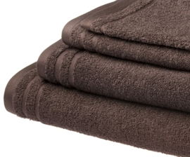 Elias  handdoek 50x100 cm  kleur bruin