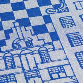 Theedoek Bunzlau Castle  Canal House royal blue