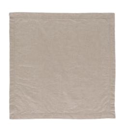 Servet Elias Noble 50x50 cm kleur beige half linnen