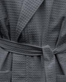 Wafelbadjas A&R met capuchon 100% katoen graphite XXS t/m XXXXL