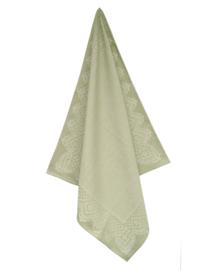 Theedoek Elias Lace katoen/linnen groen zeer luxe kwaliteit