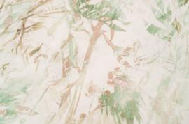 Kayori Nuturi naturel/groen dekbedovertrek Tencel