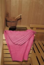 A&R saunalaken 100x210 cm  pink badstof