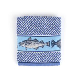 Keukendoek (handdoek) Bunzlau Castle Fish royal blue