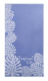 Strandlaken Arkhipelagos Tropical Vibes kleur lila 100x200 cm
