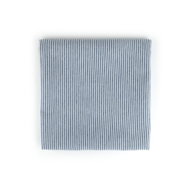Bunzlau Castle tafellaken blauw stripe 140x140