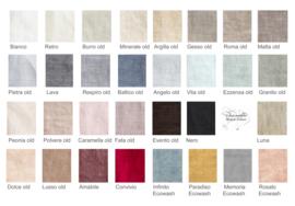 Arte Pura Cuore RS kussensloop linnen met rozenkant meerdere kleuren leverbaar