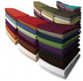 Damai nightkiss katoen hoeslaken voor matras met bi-inkeping/dubbele split hoekhoogte 40 cm voor matrashoogte van 25 t/m 35 cm