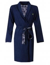 Dames zomer badjas jersey kleur peacoat maat XL