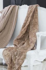 Arte Pura decoratiedoek (kefhia) Vanessa leverbaar in verschillende kleuren 130x190 cm