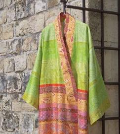 Kimono Bassetti Montalcino V2 Verde groen katoenen satijn