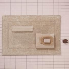 Seahorse badmat 60x90 cm kleur sand 100% katoen