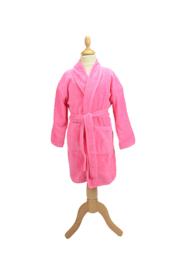 Kinderbadjas badstof A&R kleur pink maat 116 t/m 164
