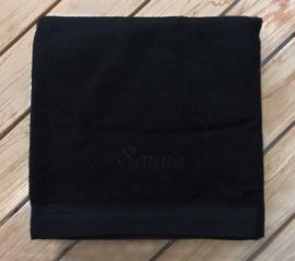 Rits Royal saunalaken 70x200 cm kleur black