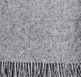 House in Style plaid Oslo indigo melange 130x240 cm, 100% wol.