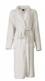 Dames fleece badjas Medaillon julia met gestanste bladeren  snowwhite maat XXL