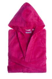 Badjas Jorzolino velours met capuchon hot pink XS t/m XXL