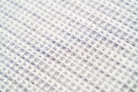 Kayori Yoko dekbedovertrek blauw wafel 100% katoen percal