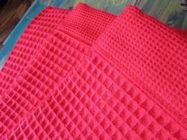 Saunalaken Taubert thalasso 75x200 cm wafelkatoen rood