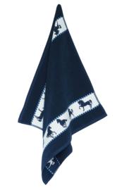Keukendoek (handdoek) Elias Horse blauw