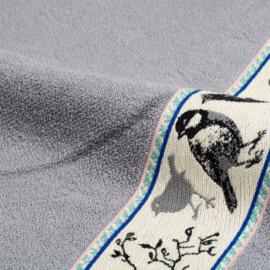 Keukendoek (handdoek) Bunzlau Castle grijs vogel
