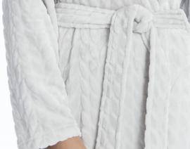 Taubert badjas met sjaalkraag extra lang 130 cm coral fleece maat 38
