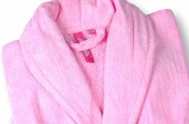 Annarebella badjas velours pink (128 t/m 176)