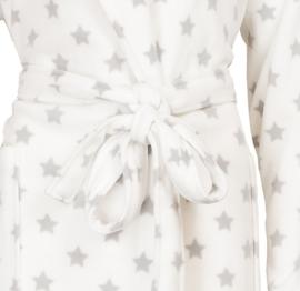 Irresistible badjas zachte micro fleece   sterren dessin star white S t/m XXL